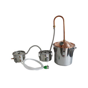 Alembic Still 10L/3gal Copper Alcohol Column Distilled Water Making Machine pictures & photos