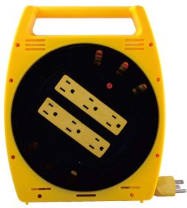 6 Grounded Outlets Power Strip with 20feet Cable Reel pictures & photos