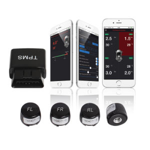 OBD Interface Bluetooth APP Display Tire Pressure Monitor System TPMS Alarm System Security with 4 External Sensor Car Vehicles pictures & photos