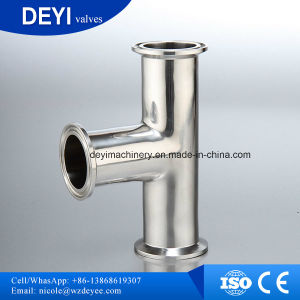 304/316L Sanitary Clamp Equal Tee (DYTF-015) pictures & photos