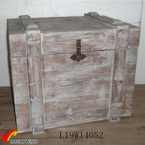 Stained Gray Large Wooden Storage Crates with Lid pictures & photos