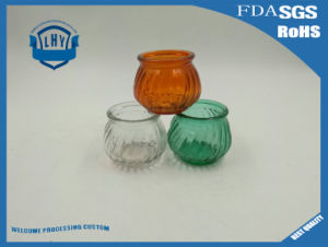 Originality Pumpkin Shaped Wax Glass Candle Holder pictures & photos