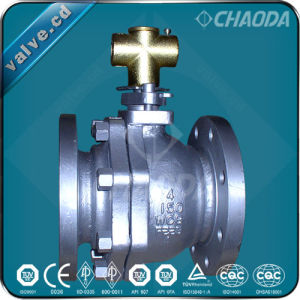 Cast Steel 2 Piece Floating Ball Valve pictures & photos