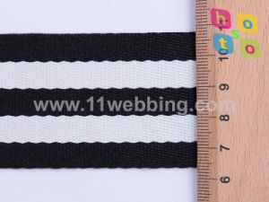 "1.5"" Black/White Polyester Webbing Strap for Handbags Strap pictures & photos"