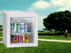 Hotel Kitchen Appliance Desktop Mini Fridge 28L Absorption Cooler with Glass Door pictures & photos