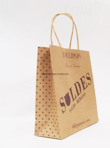 Printed Water Resistant Paper Bag Plastic Coated Kraft Paper Bag pictures & photos