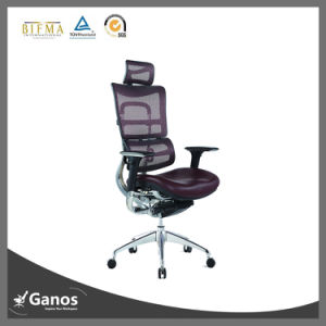 Leather Seat High Density Foam Comfortable Swivel Executive Chair pictures & photos