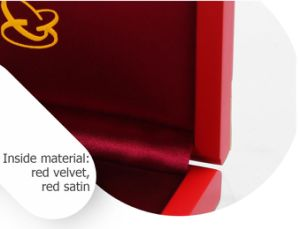 Customized Commemorative Red Lacquer Clamshell Wooden Gift Box pictures & photos