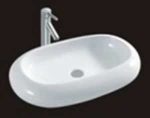 Sanitary Ware Rectangle Bathroom White Color Sink Wash Hand Single Hole Art Basin
