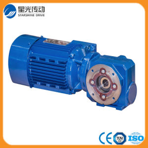 Chinese S Series Helical Electric Foot Mounted Geared Motors pictures & photos