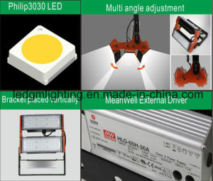 Module Design Red and Black IP65 50W LED Lamp Tunnel Light pictures & photos