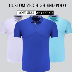High Quality Customized 95% Cotton 5% Spandex 180GSM Ladies and Mens Polo T Shirts pictures & photos