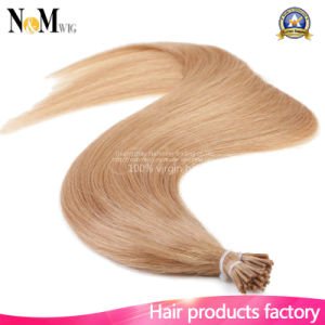 Fusion Hair Extensions Italian Keratin Fusion Nail U Tip Natural Color Hair Extension Indian Remy Human Straight 1g/S 100g pictures & photos