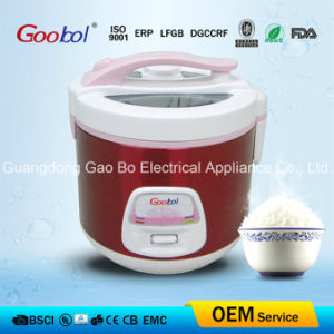 Deluxe Rice Cooker with Special Glass Lid and Red Stainless Steel Surface pictures & photos
