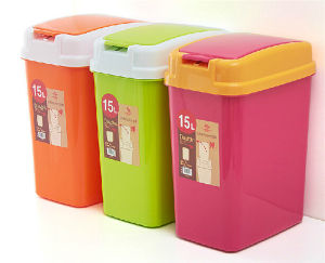 Rectangle Healthy China Seller Push Plastic Household Waste Bin pictures & photos