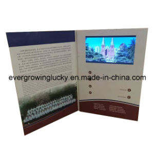 Customized Video Greeting Card with Printing pictures & photos