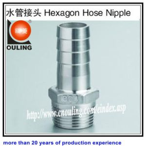 Stainless Steel Hexagon Nipple Hose Screwed Fitting by Casting