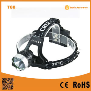 10W Xml T6 Rechargeable LED Headlight pictures & photos