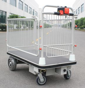 Centre Drive Wheel Electronic Cart with Shelf
