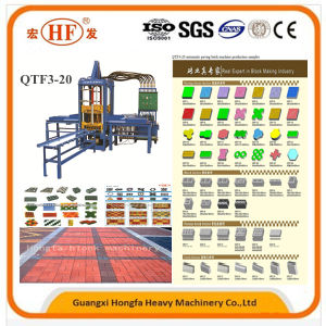 Automatic Hydraulic Hfb543s Qtf3-20 Paver Brick Making Machine Via Ce ISO pictures & photos