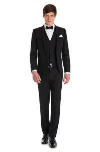 2015 Mens Slim Fashion Black Suit Jacket pictures & photos