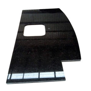 China Polished Granite Black Galaxy Countertop / Vanity Top pictures & photos