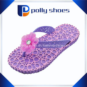 Cute Bow Purple Slipper Elegant Girl Flip Flop pictures & photos