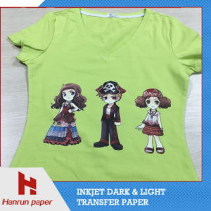 Dark Custom Printing T-Shirt Heat Transfer Paper for Textile Printing