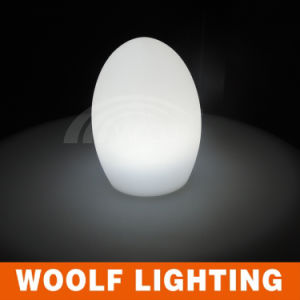 Restaurant Egg Shape Light up Glow LED Table Lamp pictures & photos