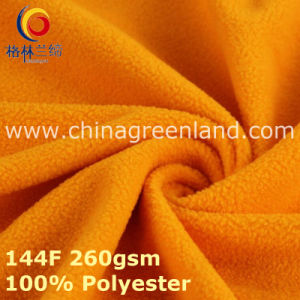 Polyester Knitted Polar Fleece Fabric for Textile Clothes (GLLML392) pictures & photos