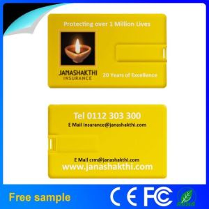 Wholesale Colorfull Printing Plastic Card USB Flash Drive 4GB pictures & photos