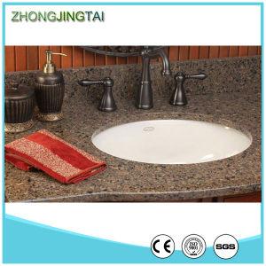 White Quartz Bathroom Vanity Top with Integral Bowl pictures & photos