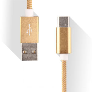 Nylon Insulated 8 Pin USB Cable for The Mobile pictures & photos