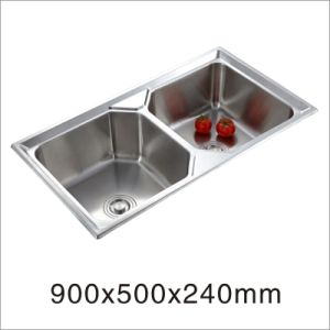 Kitchen Sink Stainless Steel Double Bowl Sink (9050yq-1) pictures & photos