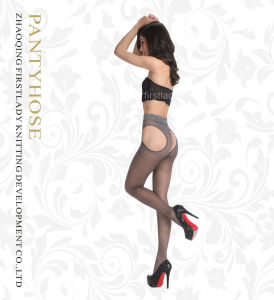 Women Sexy Hollow out Lace&High Transparency Style Pantyhose