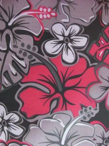 600d Oxford Big Flower Printing Polyester Fabric with PVC pictures & photos