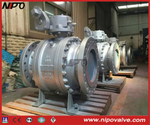 Three Pieces Cast Steel Flanged Trunnion Ball Valve pictures & photos