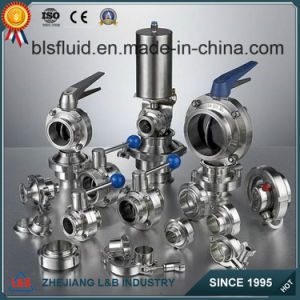 ISO Certified Factory Direct Sale Stainless Steel Sanitary Butterfly Valves pictures & photos