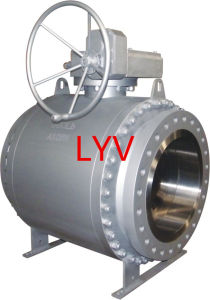 Worm Gearbox Big Size A105 Bolted Ball Valve
