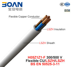 H05z1z1-F, Electric Wire, 300/500 V, Flexible Cu/Lszh/Lszh (BS EN 50525-3-11) pictures & photos