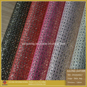 New Design Glitters Lace & Glitters Leather for Shoes (SP029) pictures & photos