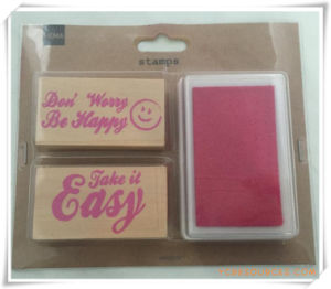 Custom Design DIY Craft Rubber Educational Wooden Stamp for Promotional Gift (OI36028) pictures & photos
