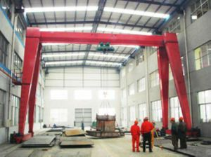 China Single Girder Gantry Crane Hoist 10 Ton pictures & photos