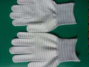 ESD Less Carbon PVC Dotted Glove 3W-9512-1 pictures & photos