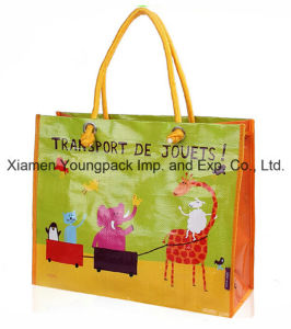 Custom Printed Laminated Woven PP Recycling Tote Bag pictures & photos