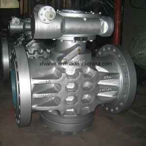 Inverted Pressure Oil Seal Balance Lubricated Flange Plug Valves pictures & photos
