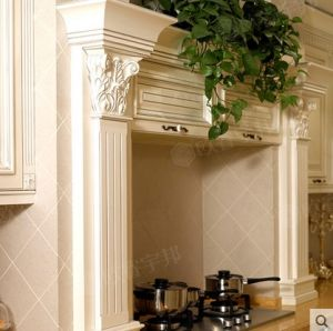 High Quality Kitchen Cabinet by Proffession Design with Fine Carving Craft pictures & photos