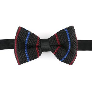 Men′s Fashionable 100% Polyester Knitted Bow Tie (YWZJ98) pictures & photos