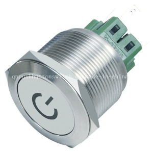 25mm Dpdt Power Switch with Loching and LED pictures & photos