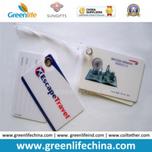 Double Pieces PVC Customized Hard Luggage Tag as Promotional Gift